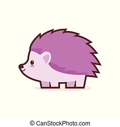 cute little hedgehog cartoon comic character with smiling face happy emoji anime kawaii style funny animals for kids concept