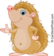 Cute little Hedgehog presenting