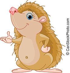 Hedgehog presenting