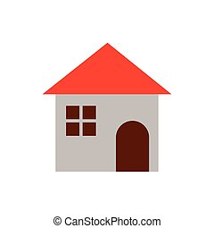 cute little house isolated icon