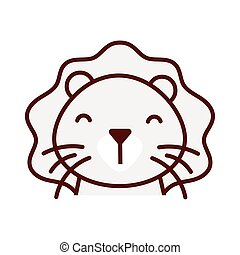 cute little lion animal character