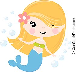 cute little mermaid cartoon