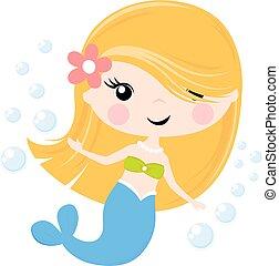 cute little mermaid cartoon