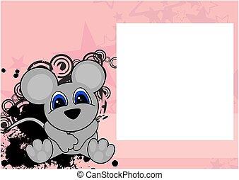 cute little mouse cartoon frame