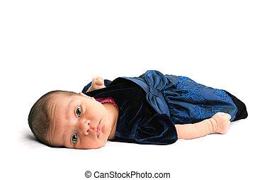 Cute Little Newborn Baby Girl