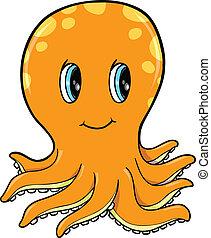 Cute Little Octopus Vector