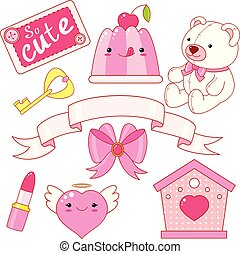 Cute little princess sticker collection