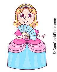Cute little princess with a diadem