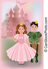 Cute little princess with prince