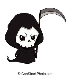Cute little reaper illustration
