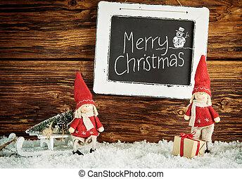 Cute little Santa dolls with Merry Christmas