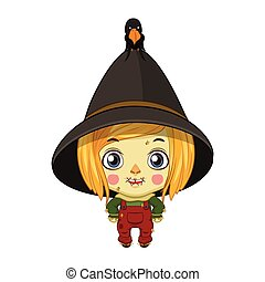 Cute little scarecrow illustration