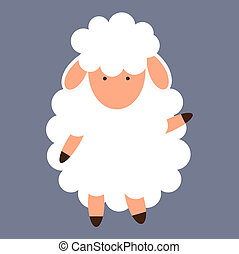 Cute little sheep. illustration