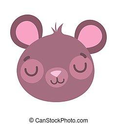 cute little teddy bear face toy cartoon