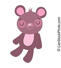 cute little teddy bear toy cartoon