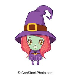 Cute little witch illustration