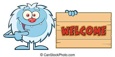 Cute Little Yeti Cartoon Character