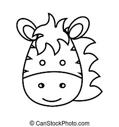 cute little zebra animal character