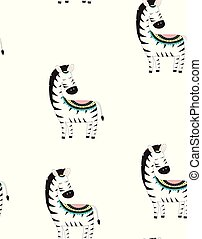 cute little zebra vector print