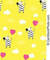 cute little zebra vector print