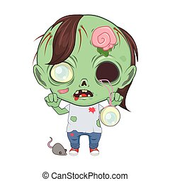 Cute little zombie illustration