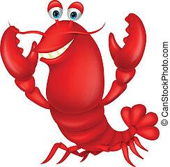 Cute lobster cartoon - Vector illustration of Cute lobster...
