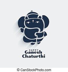cute lord ganesha design for ganesh chaturthi