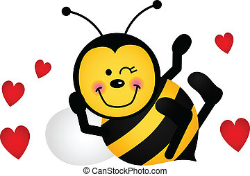 Cute Love Bee