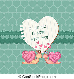 Cute Love Card - for Valentine's day, scrapbooking in vector