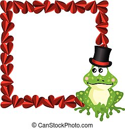 Cute love frog frame