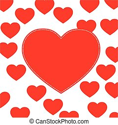 Cute love hearts background