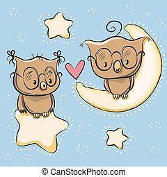 Cute Lovers Owl