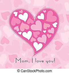 cute, mães, ilustração, experiência., dia, vetorial, feliz