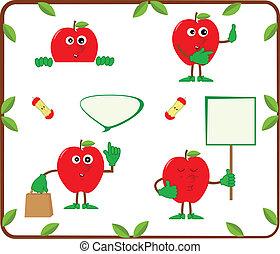 cute, maçãs