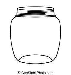 cute mason jar isolated icon vector illustration design