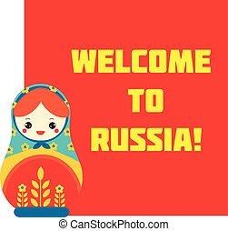 Cute matryoshka. Traditional russian nesting doll Matreshka...