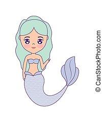 cute mermaid avatar character