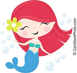 cute mermaid girl