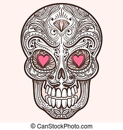 Cute mexican sugar skull