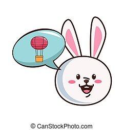 cute mid autumn rabbit character
