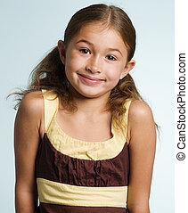 Cute mixed race girl