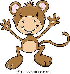 Cute Monkey Ape Vector Art