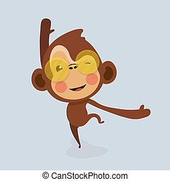 Cute monkey cartoon.