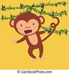 cute monkey  design