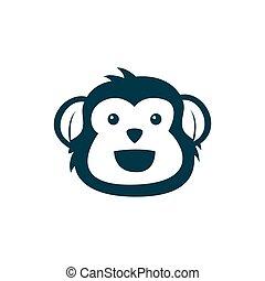 cute monkey mascot logo