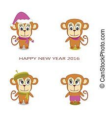cute monkey on a white background