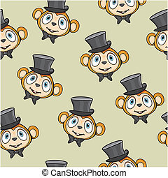 Cute monkey pattern