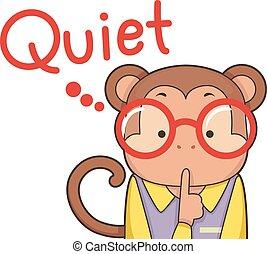 Cute Monkey Quiet