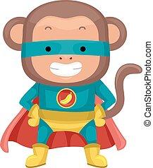 Cute Monkey Superhero