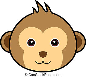 Cute Monkey Vector - Cute animal faces in (One of 25 of...